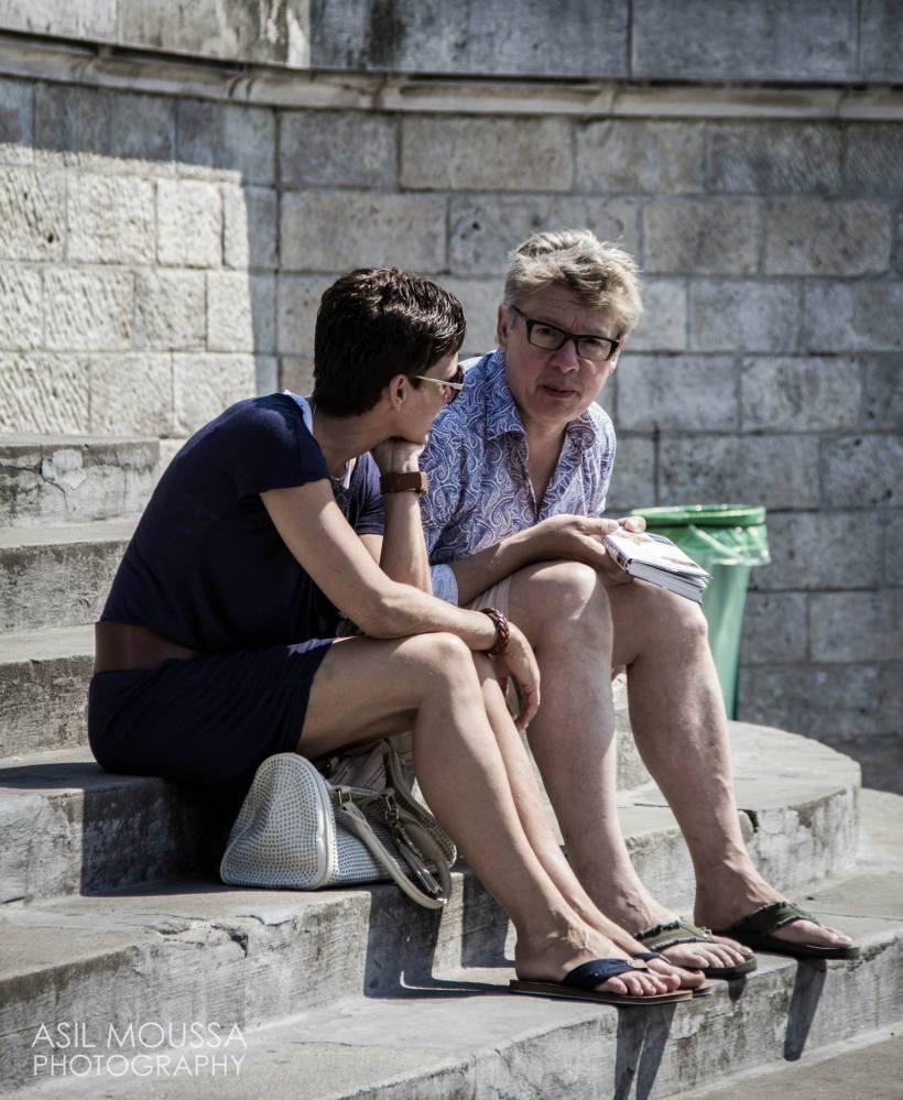 Parisian couple.